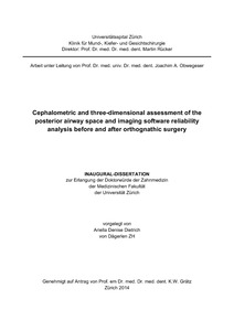 Cephalometric and three-dimensional assessment of the