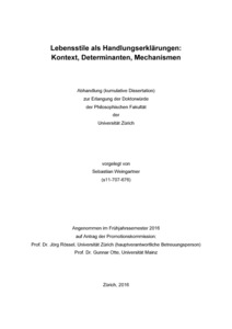 kumulative dissertation uzh