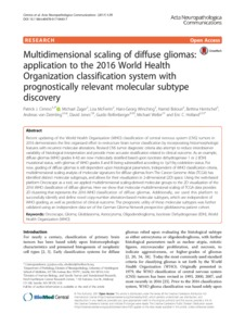 Multidimensional scaling of diffuse gliomas: application to the 2016