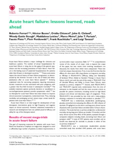 Acute heart failure: lessons learned, roads ahead - Zurich Open