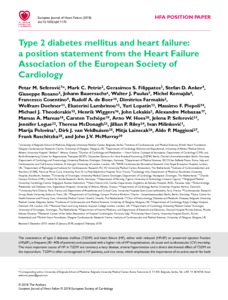 Type 2 diabetes mellitus and heart failure: a position statement