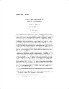 Gromov-Witten invariants of a class of toric varieties
