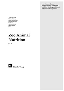 Browse silage in zoo animal nutrition: feeding enrichment of