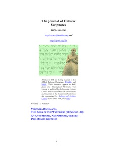 The Book of The Watchers (1 Enoch 1-36): an anti-Mosaic, non