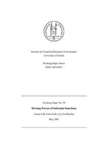 informal sanctions