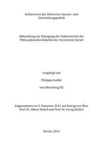 Dissertation entwicklungspolitik