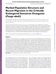 Marked population structure and recent migration in the